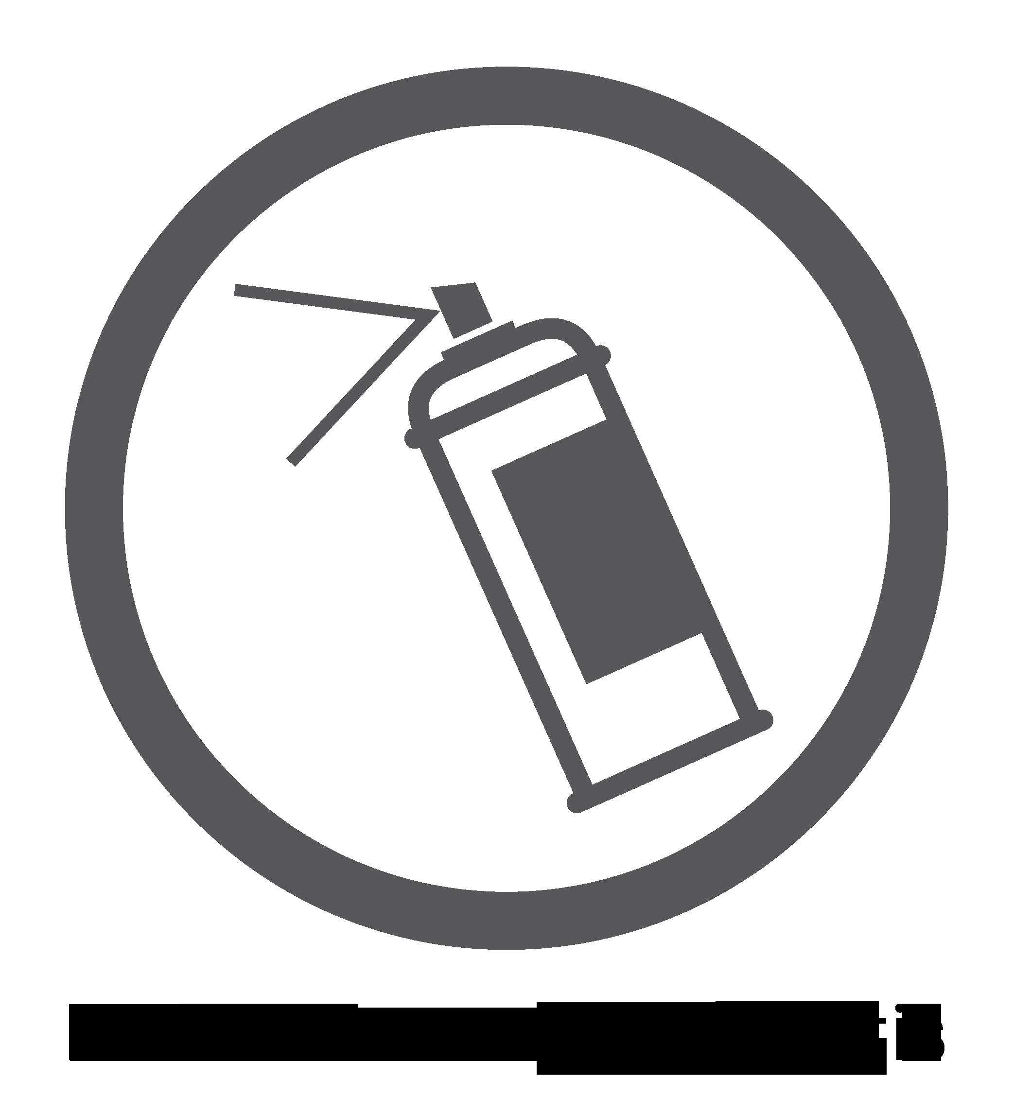 """Logotipo de """"superficie resistente a los grafitis"""""""