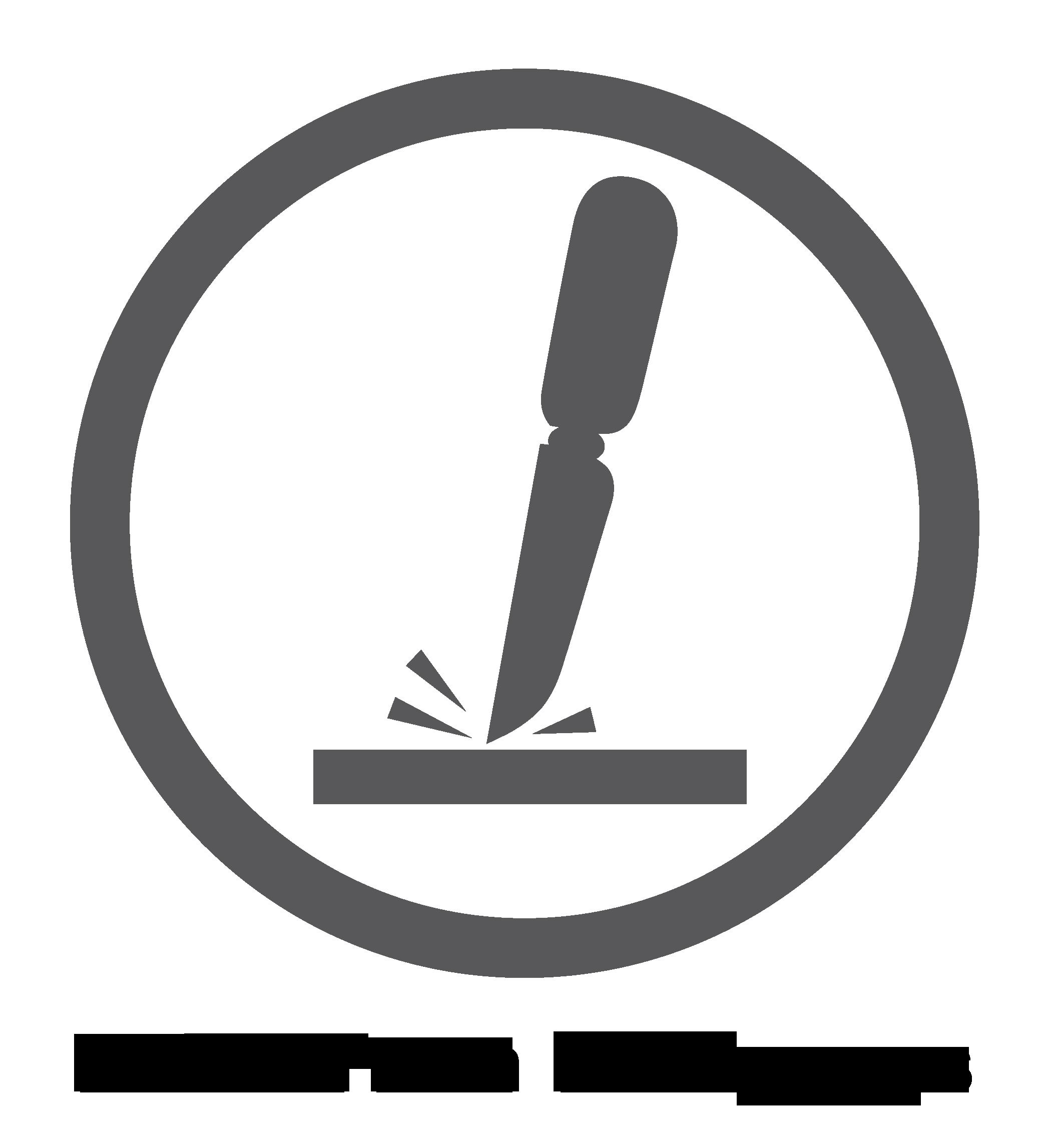 """Logotipo de """"superficie resistente a los rayones"""""""